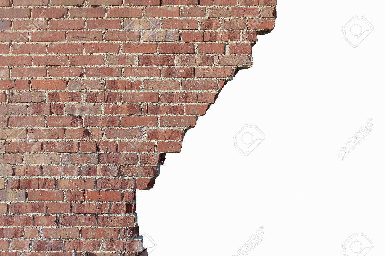 Old Broken Red Brick Wall intérieur Casse Brick