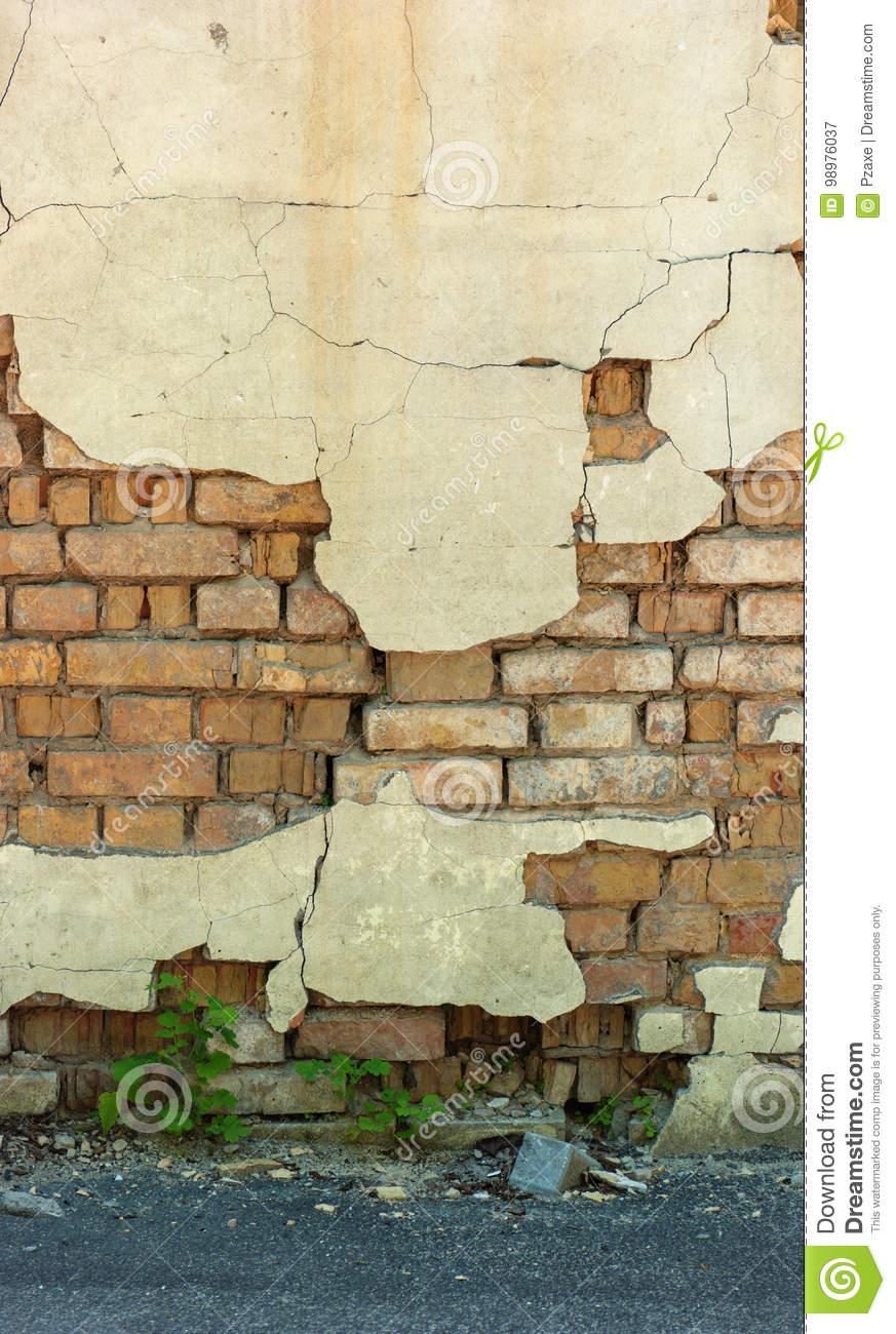 Old Broken Wall, Brickwork Stock Image. Image Of Square intérieur Casse Brick
