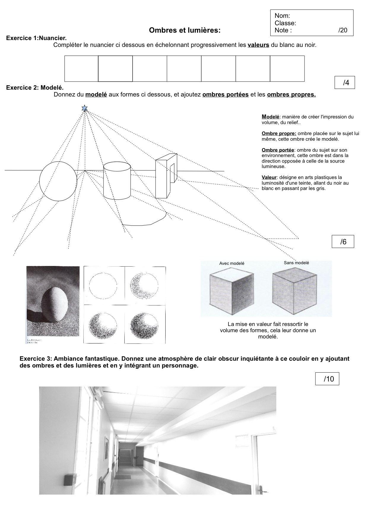 Ombre Et Lumière - Collège François Pompon | Ombre Et dedans Apprendre A Dessiner Les Ombres