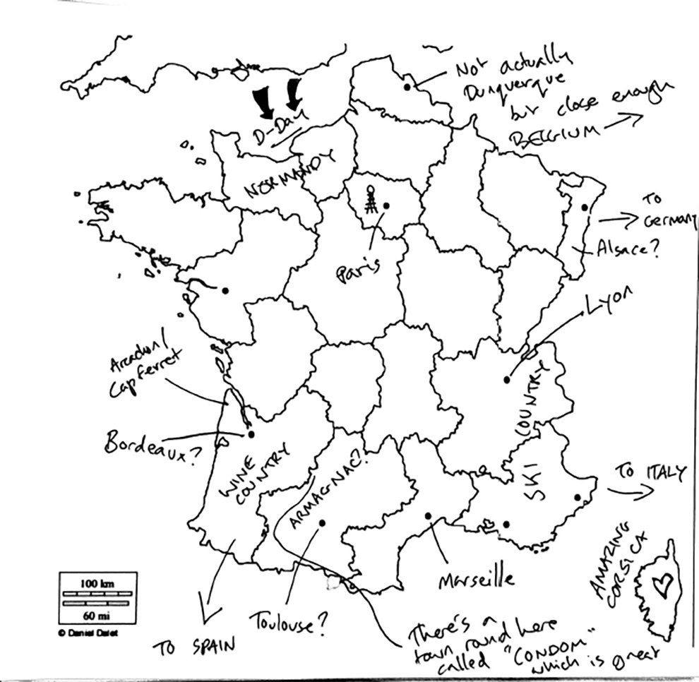 On A Demandé À Des Britanniques De Remplir Une Carte De La pour Carte De France A Remplir