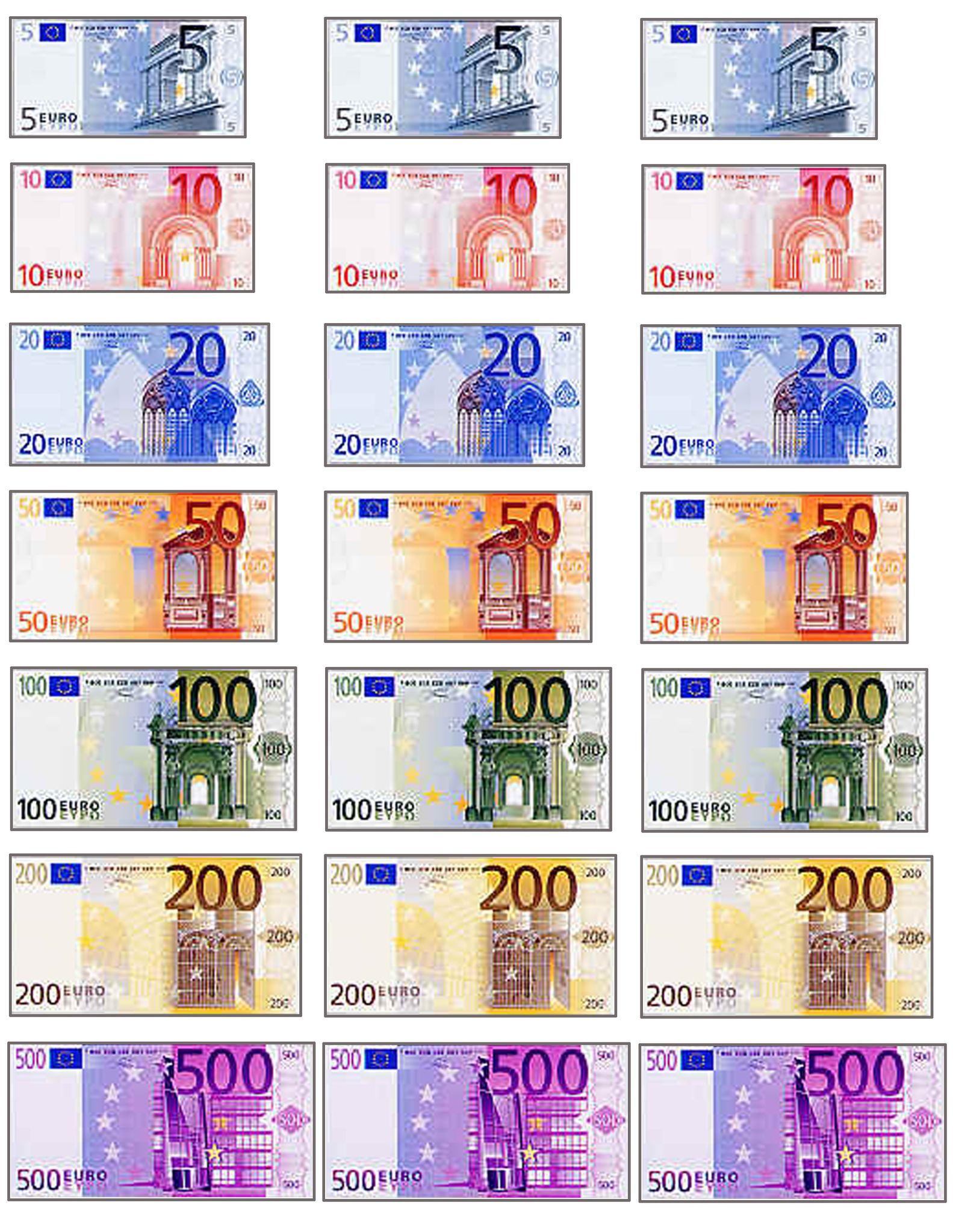 On Joue A Quoi? A La Marchande - 1 Et 2 Et 3 Doudous destiné Pieces Et Billets Euros À Imprimer