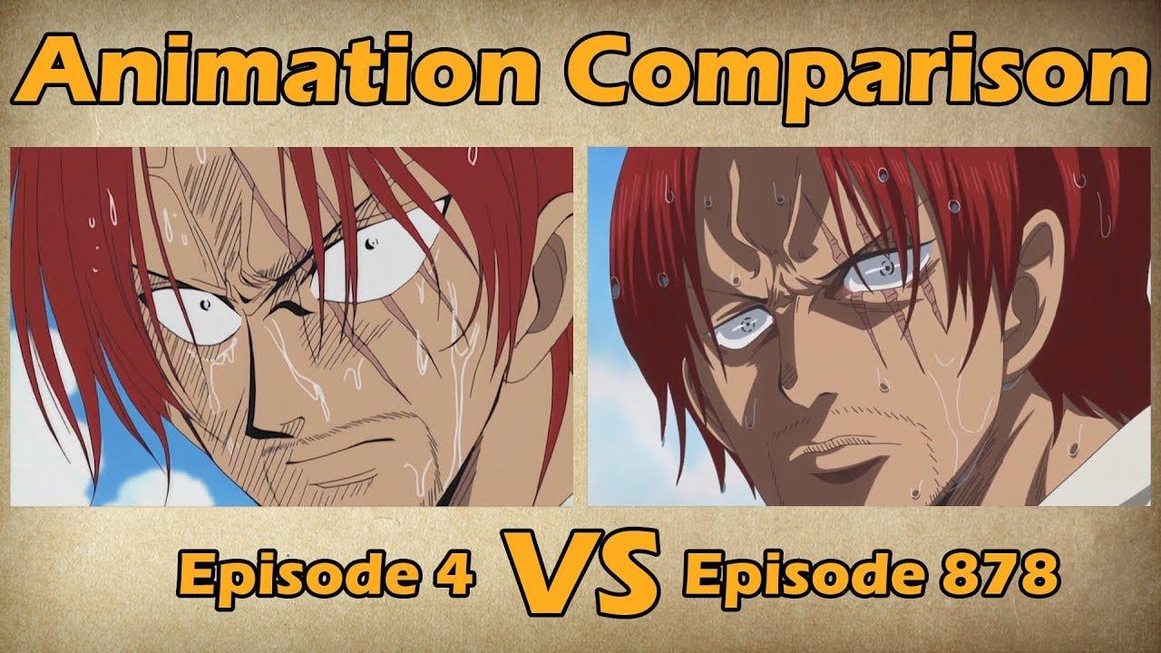 One Piece - Episode 4 Vs Episode 878 | Animation Comparison pour Dessin Animé De One Piece