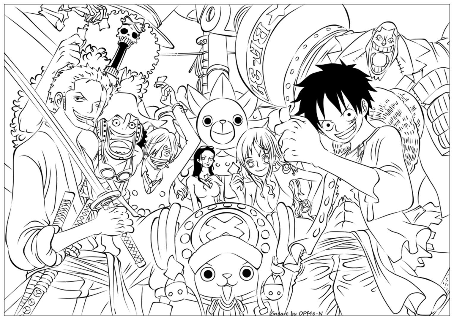One Piece To Color For Kids - One Piece Kids Coloring Pages dedans Dessin Animé De One Piece