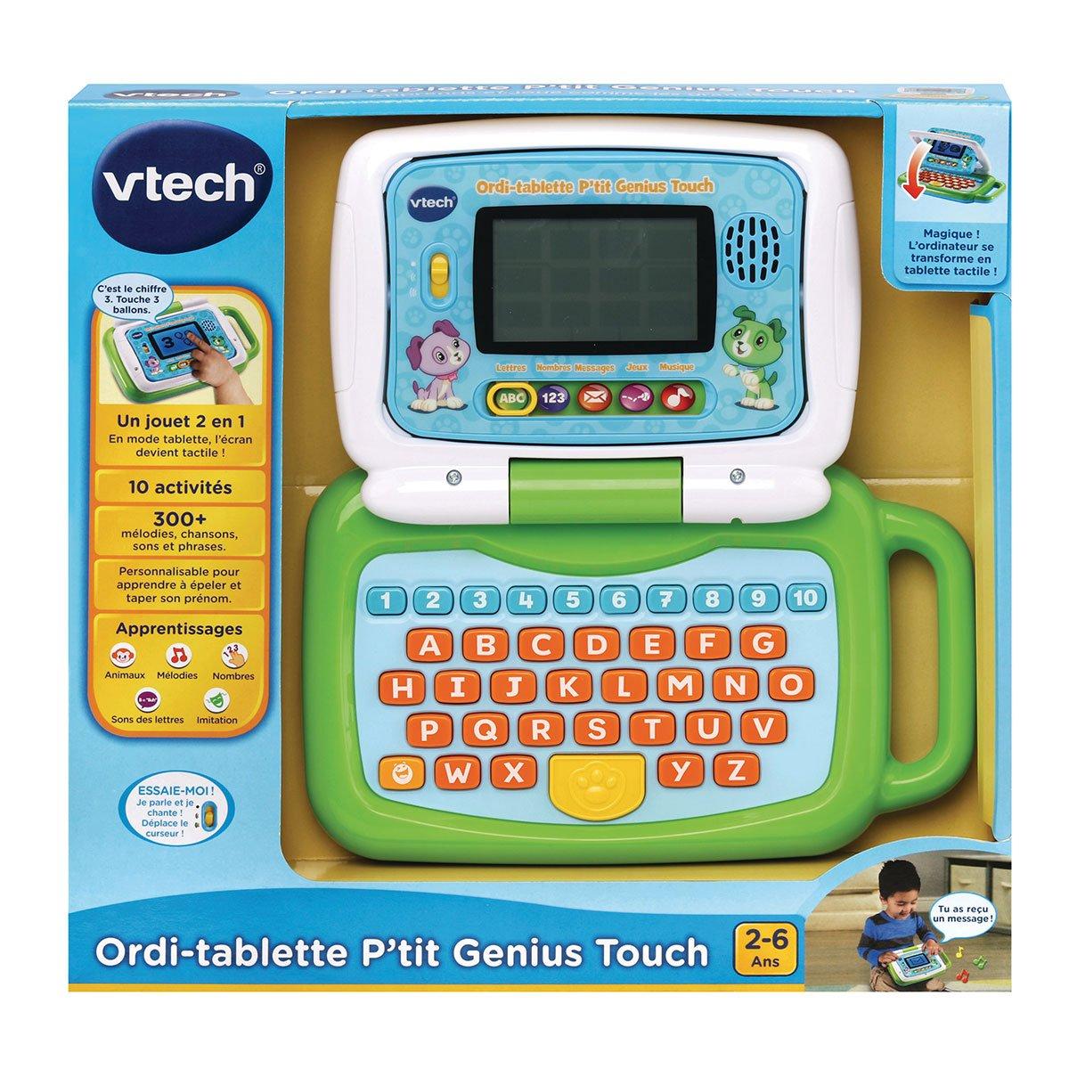 Ordi-Tablette P'tit Genius Touch Vert - Jeux Éducatifs - La destiné Jeux Educatif 2 Ans
