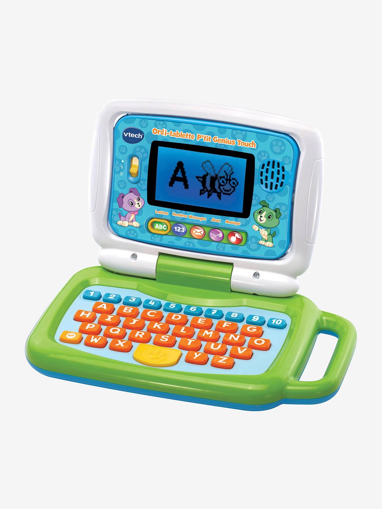 Ordi-Tablette P'Tit Genius Touch Vtech Multicolore - Vtech concernant Ordinateur Educatif Enfant