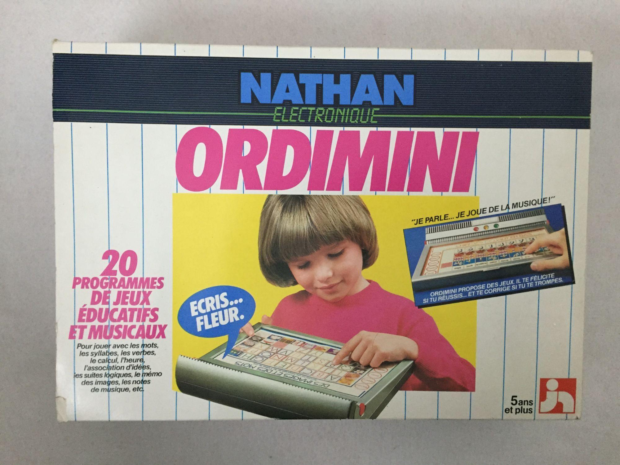Ordimini Ordinateur Electronique Nathan 1984 Vintage (Ordi avec Ordinateur Educatif Enfant