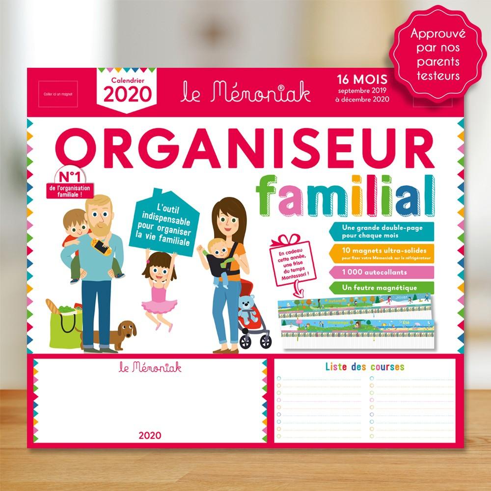 Organiseur Familial Mémoniak 2019-2020 dedans Calendrier Ludique À Imprimer