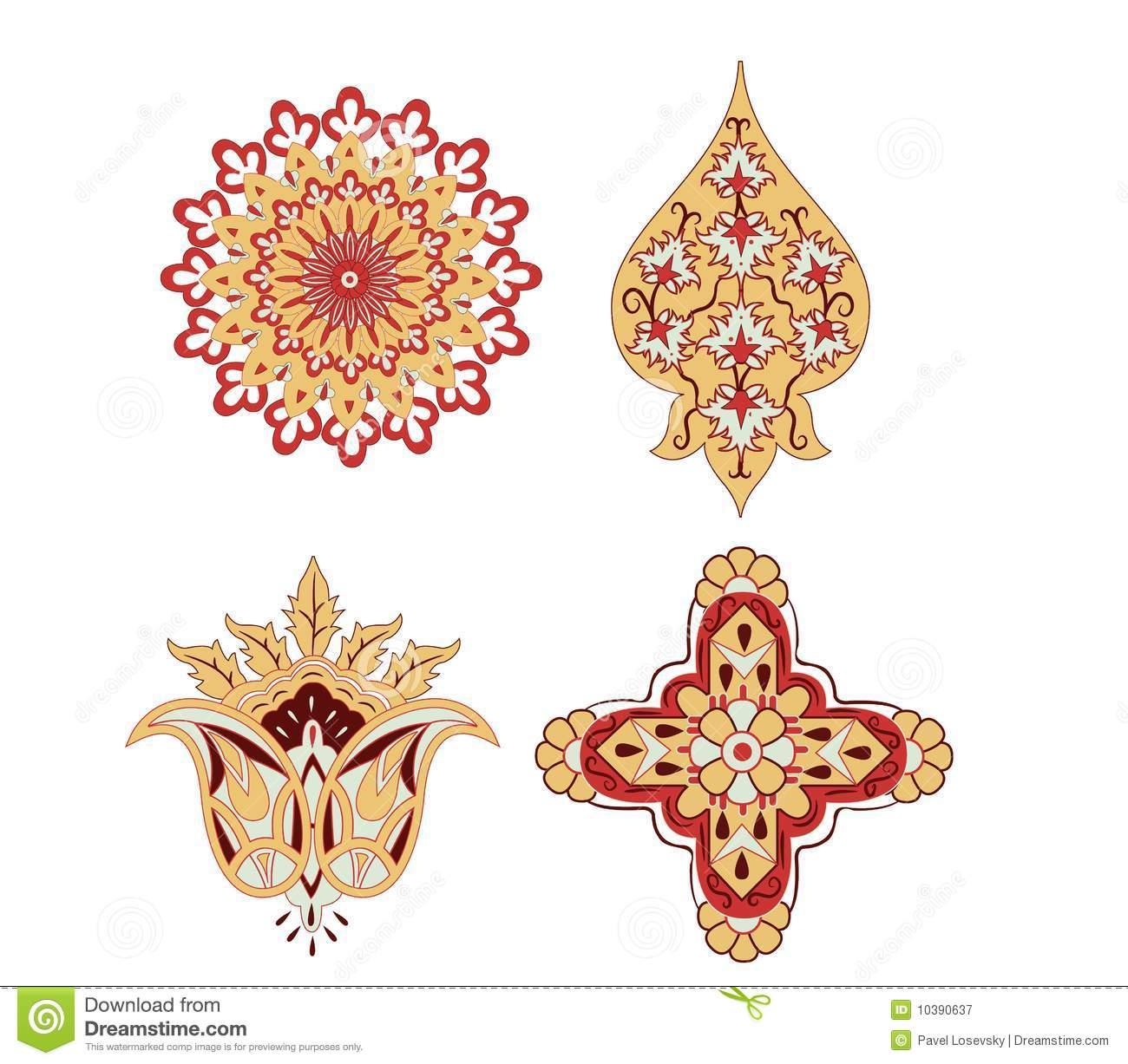 Oriental Elements Rosace Vector Stock Vector - Illustration tout Image De Rosace
