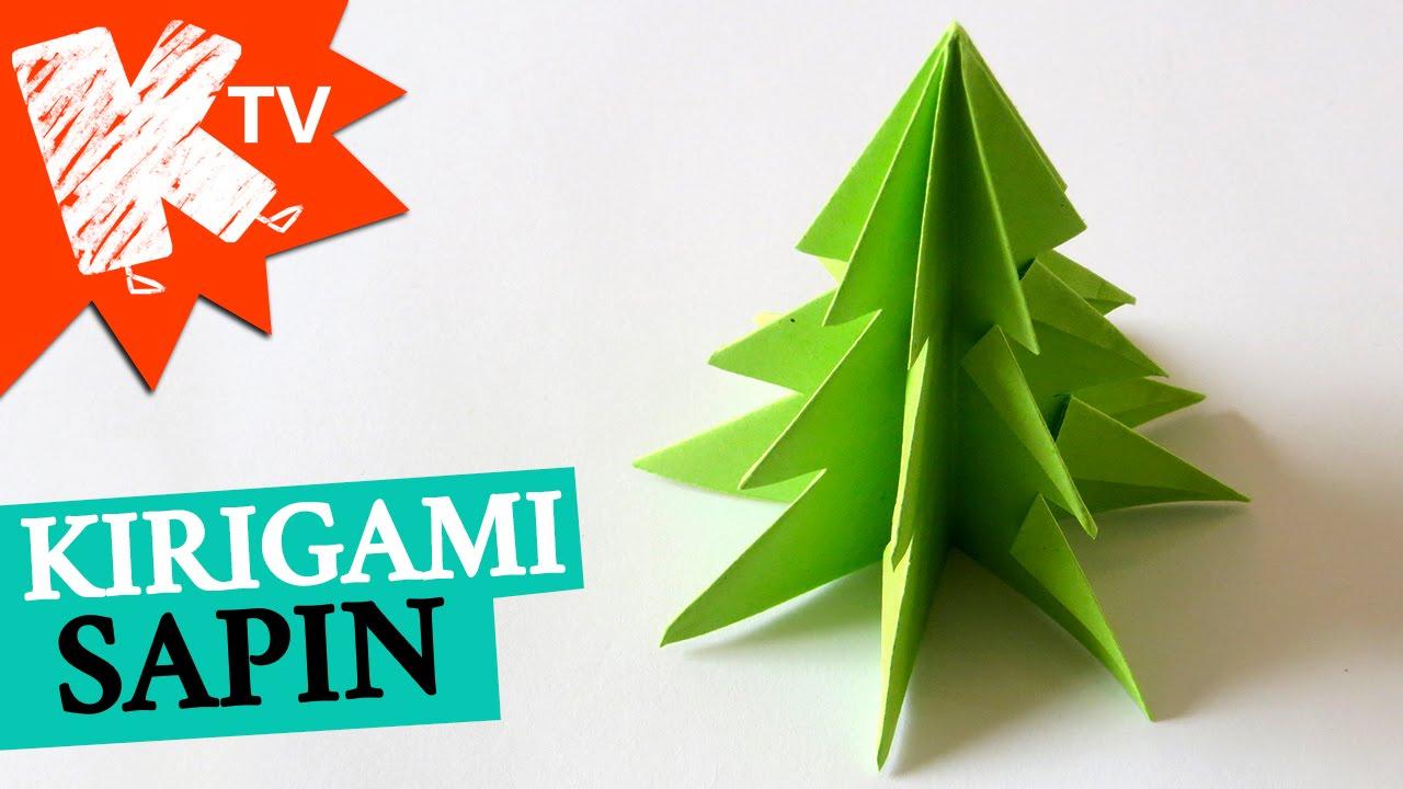 Origami Christmas Tree avec Decoupage Papier Facile