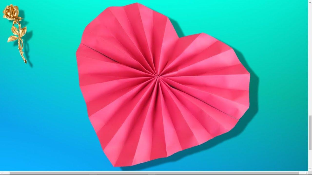 Origami Facile : ❤️ Cœur En Évl 💗 à Decoupage Papier Facile