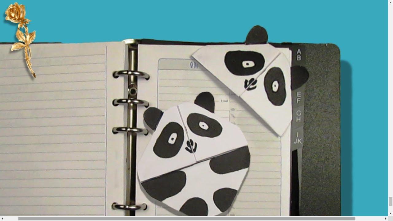 Origami Facile : 📑 Marque Page 🐼 Panda à Modele De Marque Page A Imprimer