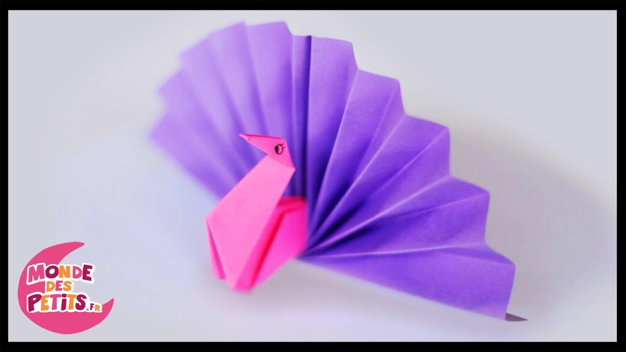 Origami: Le Paon En Papier Plié pour Pliage Papier Enfant