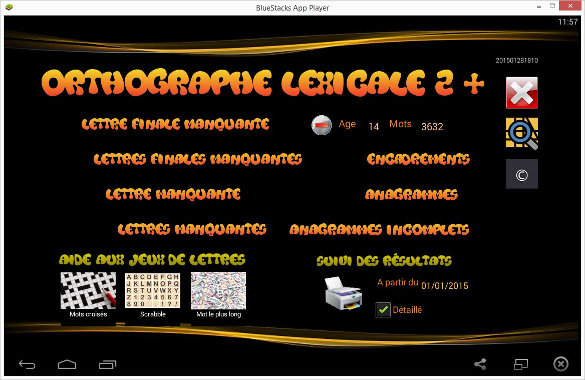 Orthographe Lexicale 2 + For Android - Apk Download intérieur Anagrammes À Imprimer