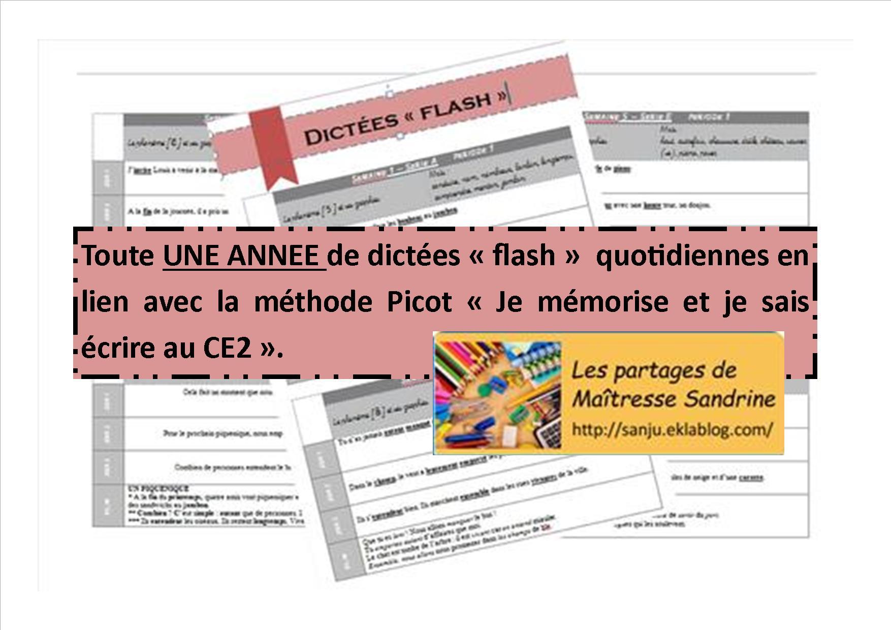 Orthographe Méthode Picot - Les Partages De Maîtresse Sandrine intérieur Jeux De Maitresse A Imprimer