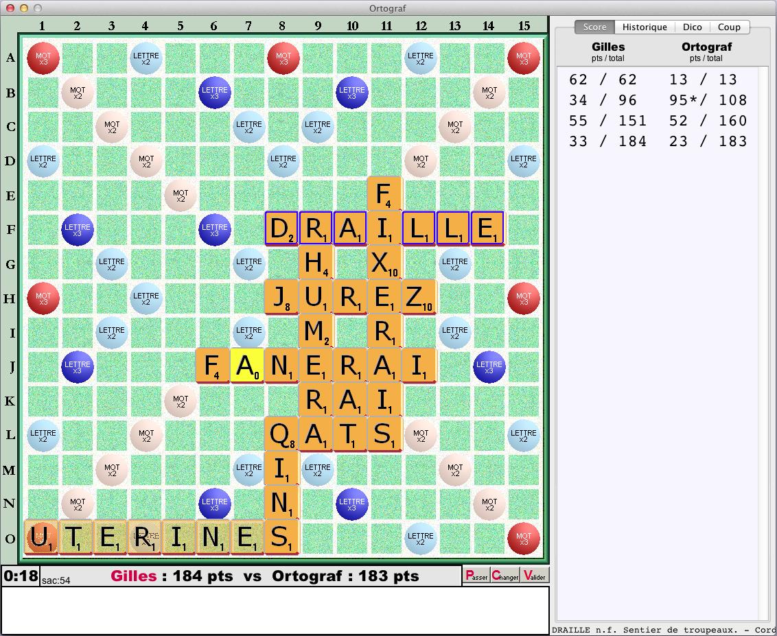 Ortograf - Jeu De Mots Croisés Pour Votre Macintosh - Scrabble à Jeux Gratuit De Mots