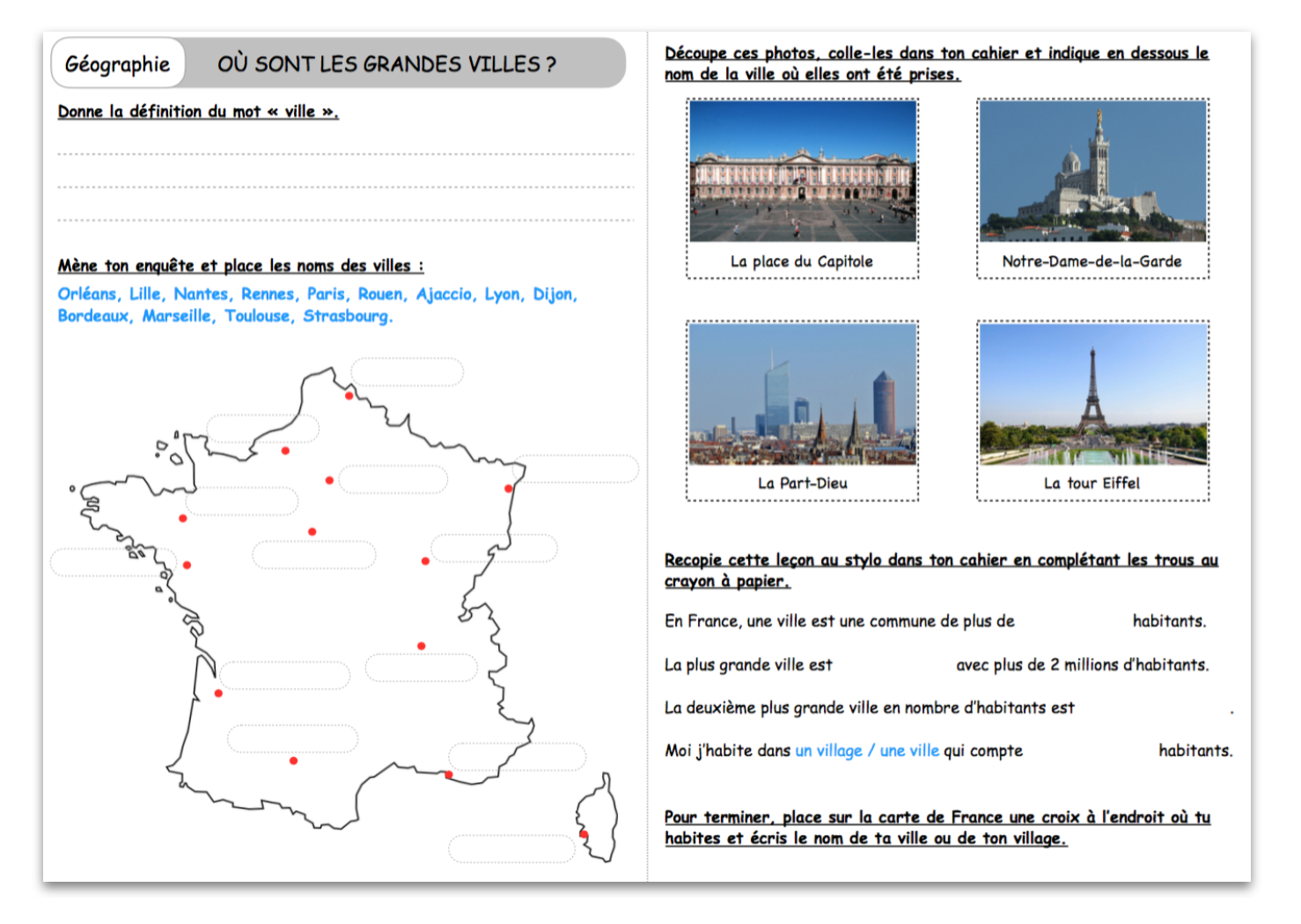 Où Sont Les Grandes Villes ? – Le Blog Du Cancre dedans Fleuves Ce2