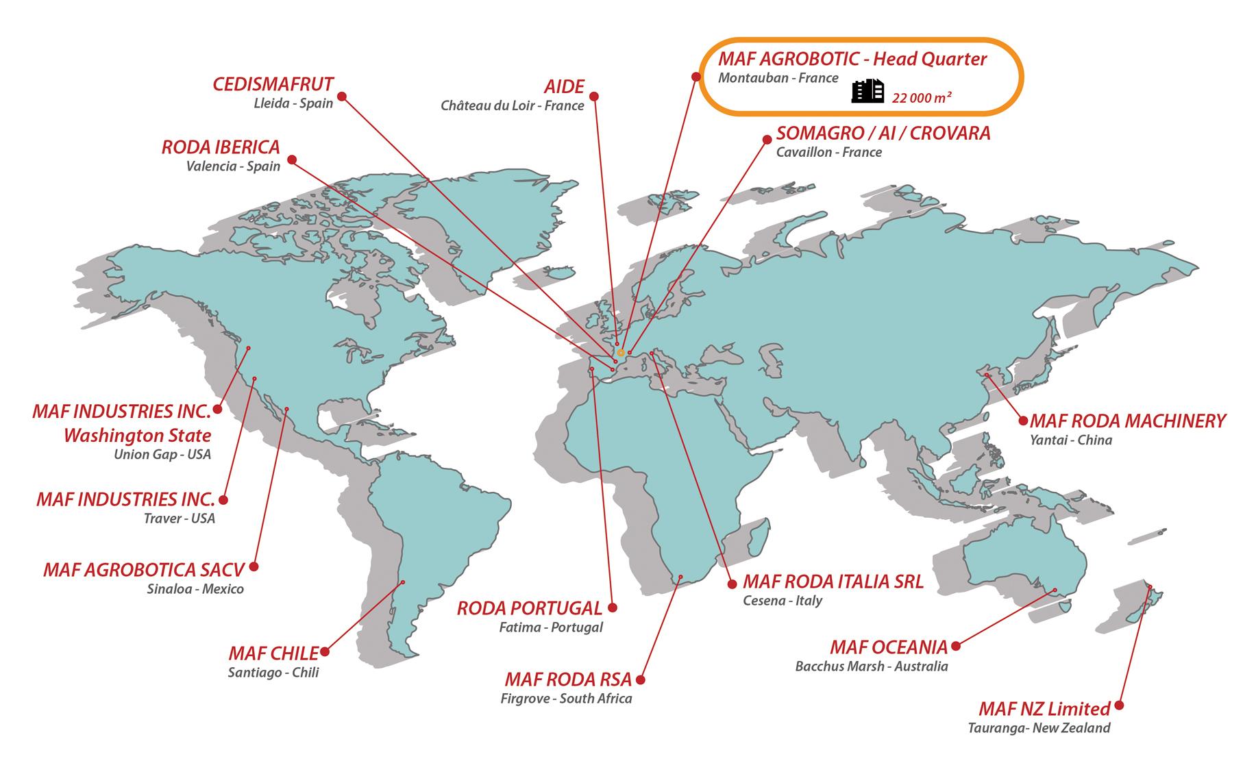 Our Locations serapportantà Mappe De France