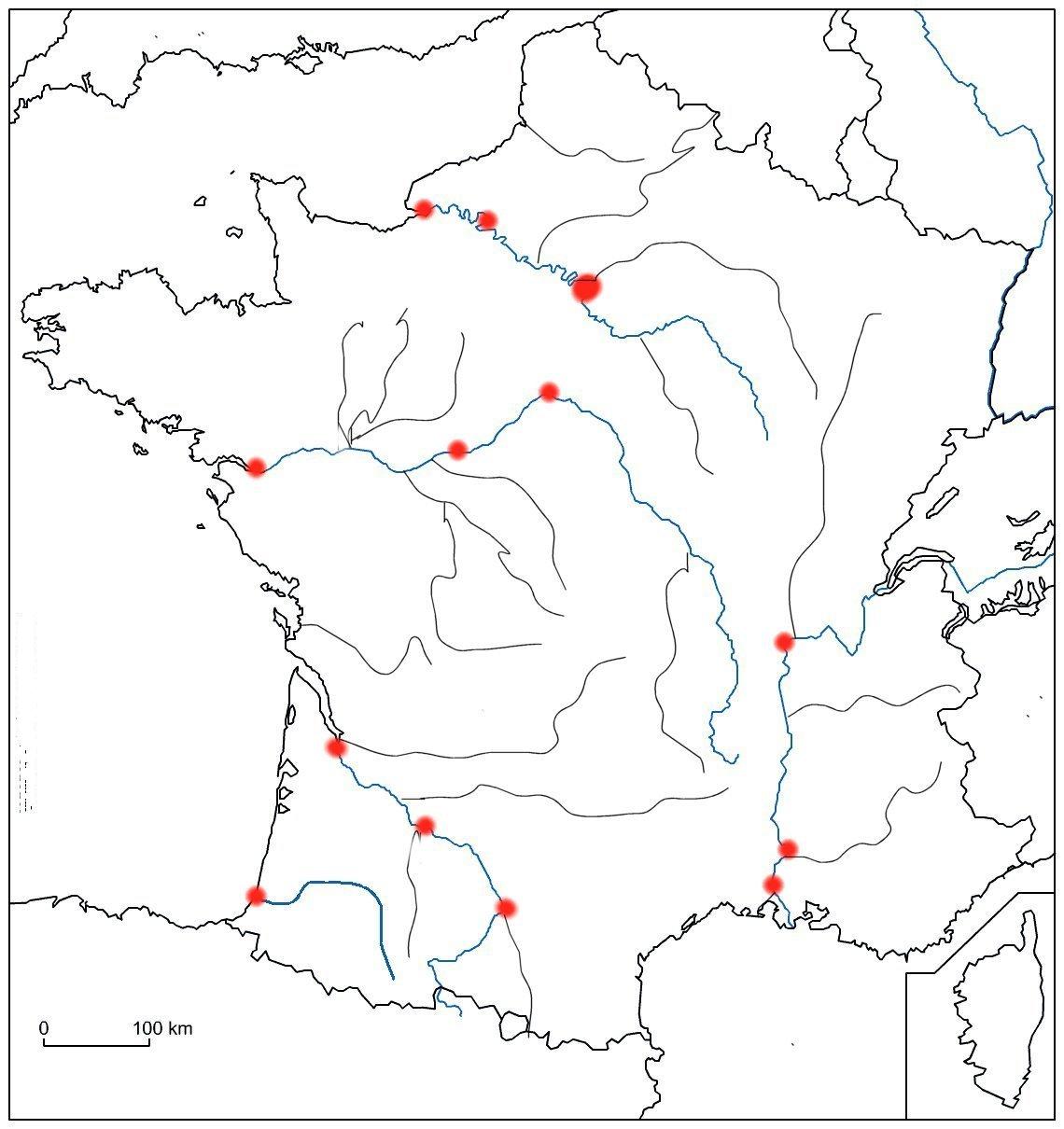 Outils De Géographie pour Carte De France Avec Les Villes