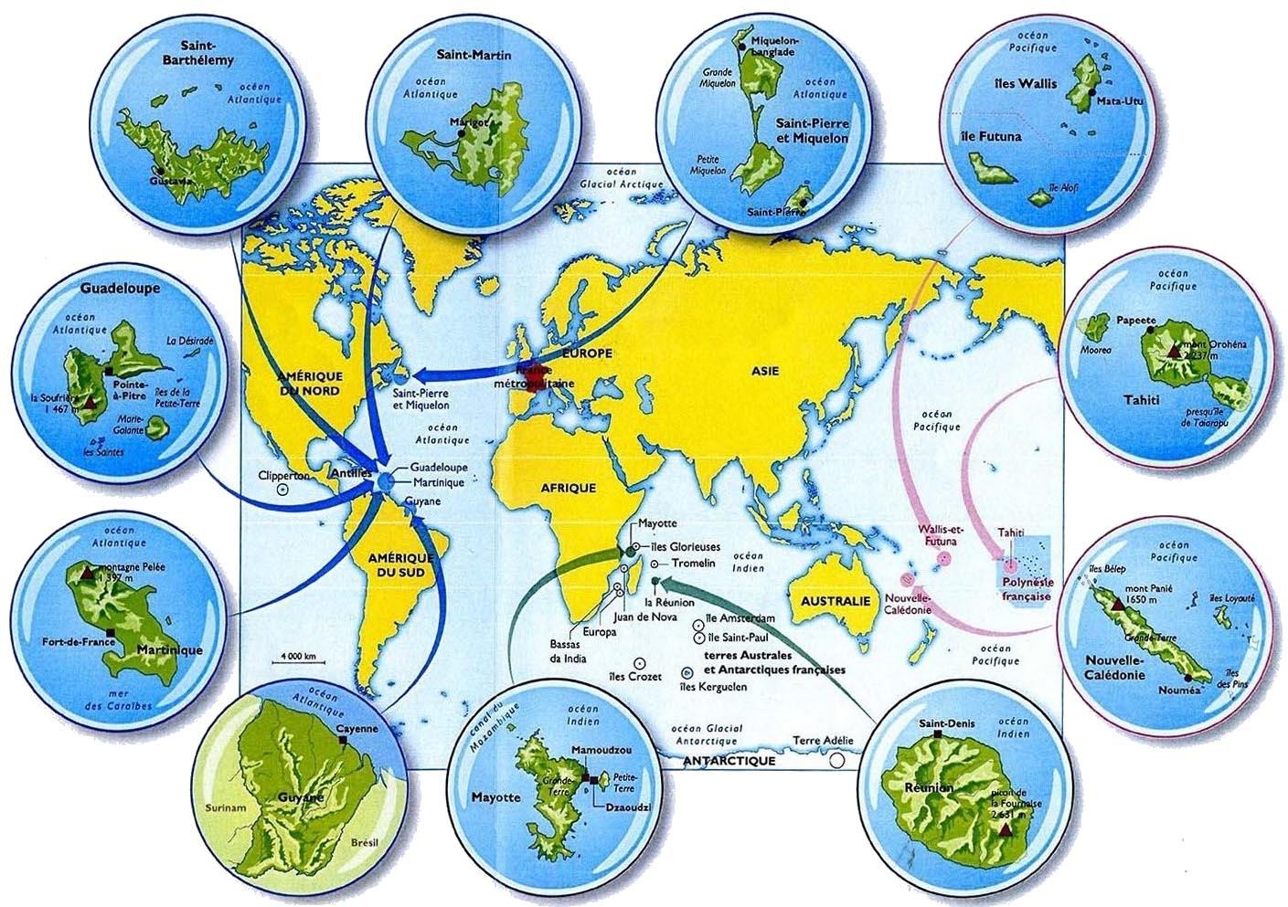 Outre-Mer: La Carte, Le Jeu! - Le Blog Du Maître :) à Département D Outre Mer Carte