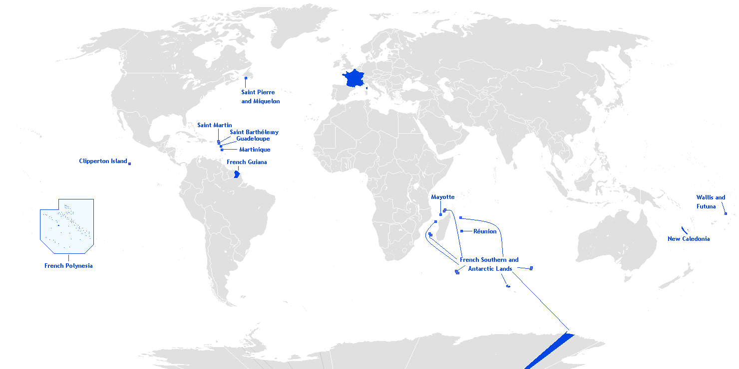 Overseas France - Simple English Wikipedia, The Free serapportantà France Territoires D Outre Mer