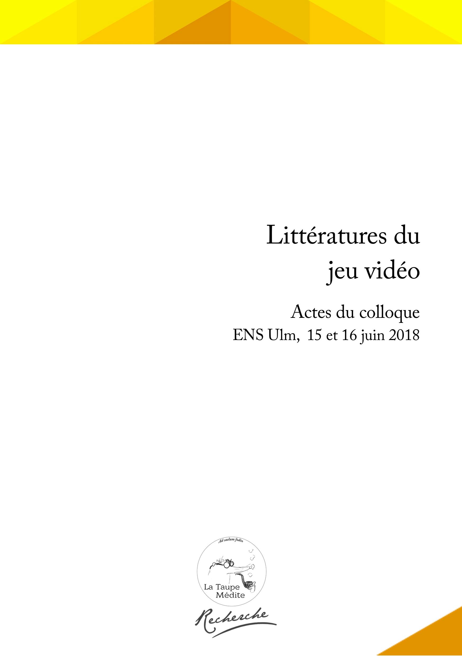 P.-A. Colombani, G. Grandjean, S. Würtz (Dir.), Littératures serapportantà Jeu De La Taupe