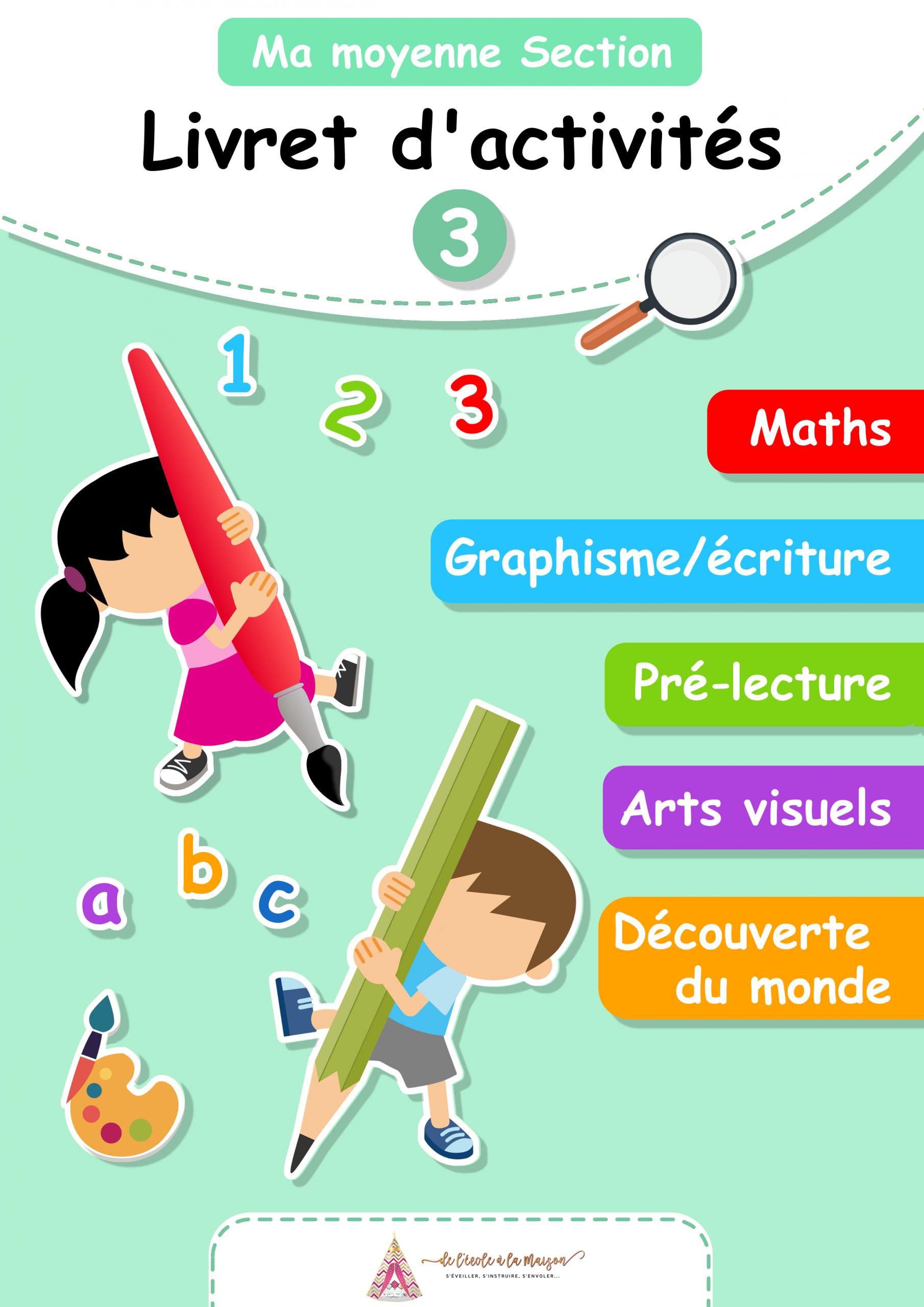 Pack Moyenne Section De Maternelle pour Exercice Maternelle Moyenne Section
