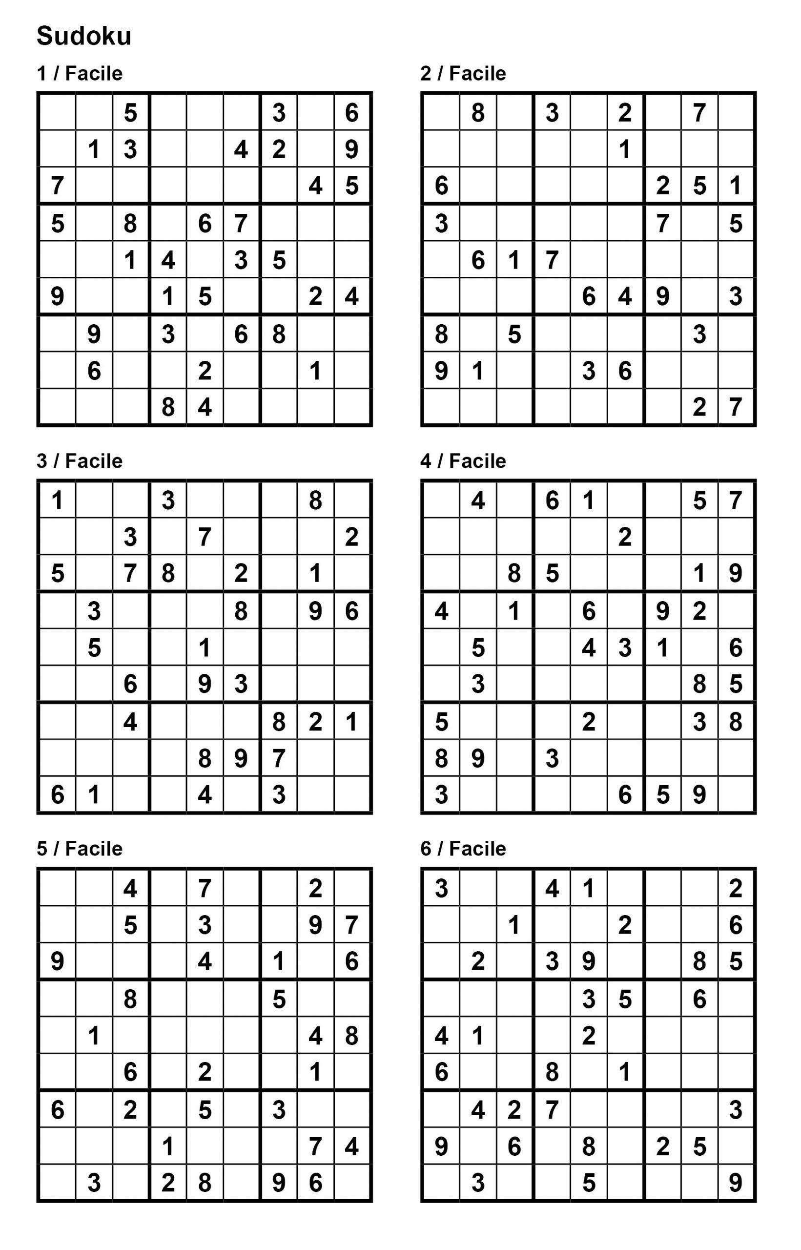 Pack N° 1 De 10 Grilles De Sudoku 9X9 / Niveau Facile avec Mots Fléchés Facile