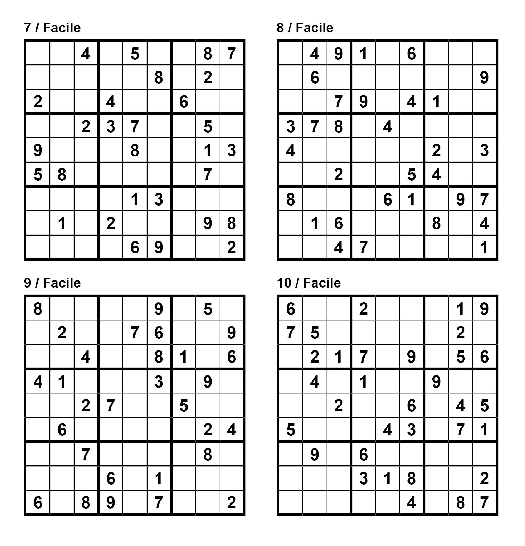 Pack N° 1 De 10 Grilles De Sudoku 9X9 / Niveau Facile destiné Sudoku Lettres À Imprimer
