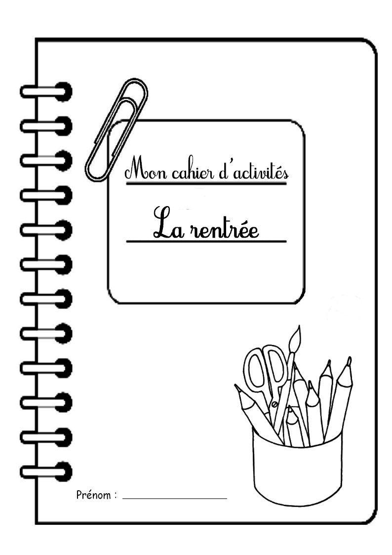 """Page De Garde Cahier D'activités """"la Rentrée"""" concernant Cahier D Activité A Imprimer"""