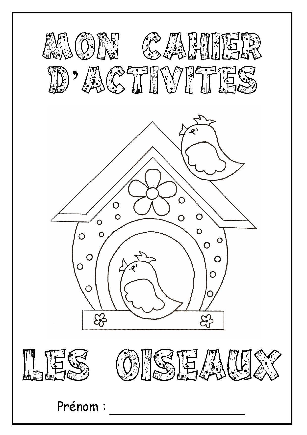 """Page De Garde Cahier D'activités """"les Oiseaux"""" destiné Cahier D Activité Maternelle"""