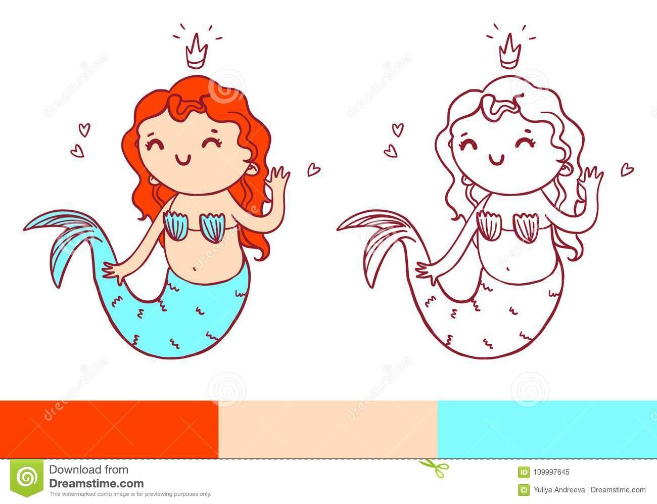 Page De Livre De Coloriage Avec La Petite Sirène Temlate encequiconcerne La Petite Sirène À Colorier