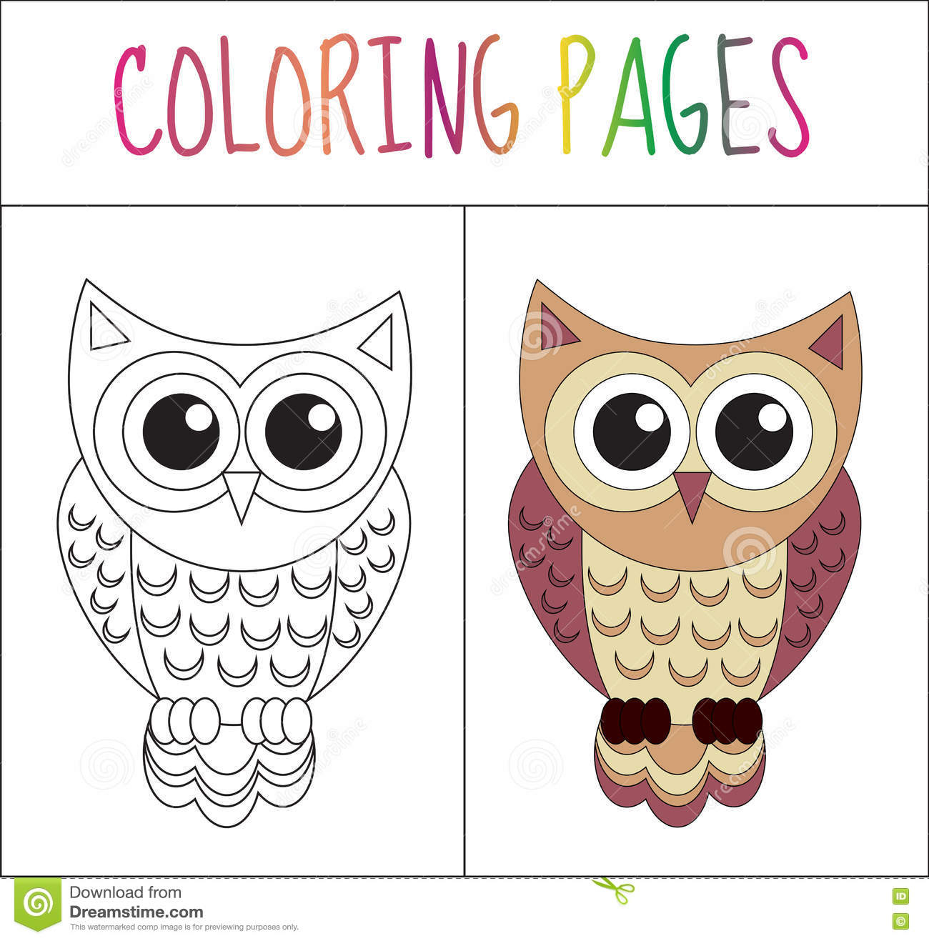 Page De Livre De Coloriage Hibou Version De Croquis Et De encequiconcerne Hibou Dessin Couleur