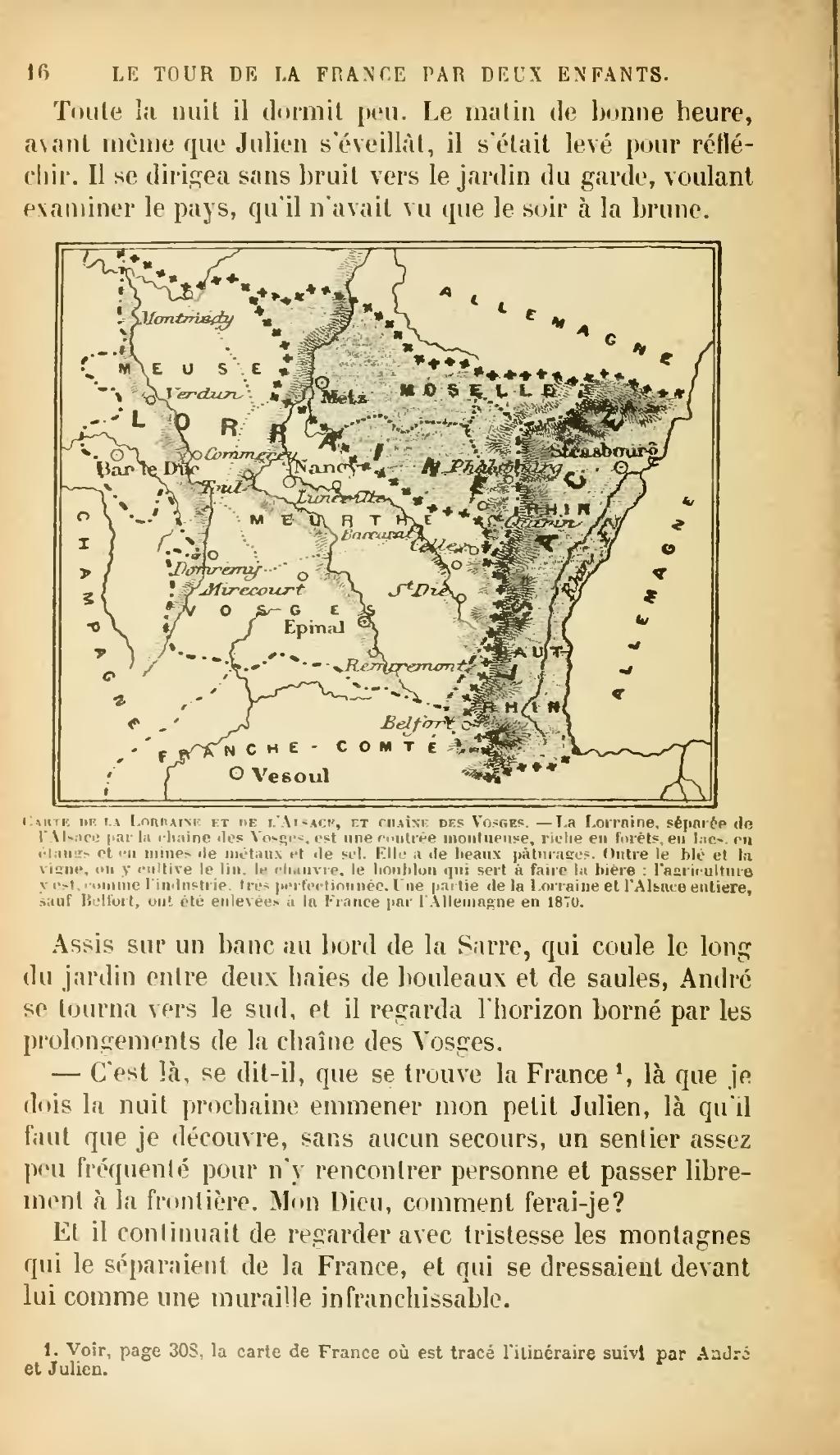 Page:g. Bruno - Le Tour De La France Par Deux Enfants, 1904 dedans Carte De France Pour Les Enfants