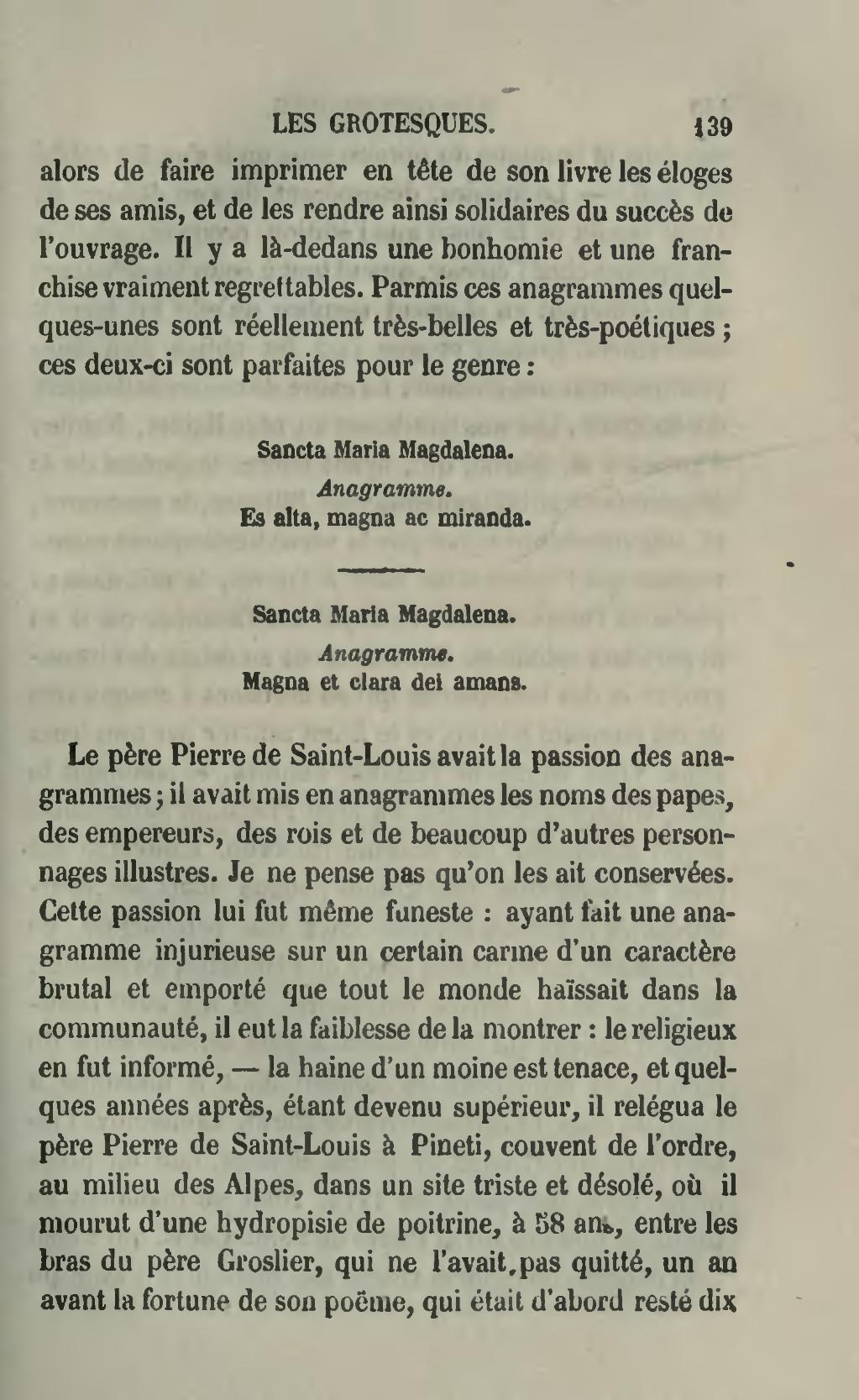 Page:gautier - Les Grotesques, 1856.djvu/159 - Wikisource serapportantà Anagrammes À Imprimer