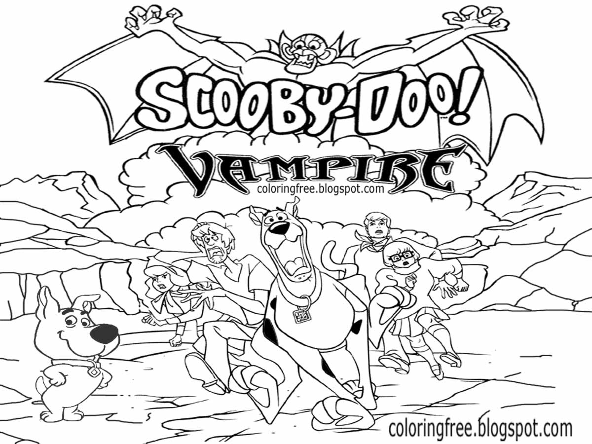 Pages Coloring ~ Scooby Doo Coloring Pages And Friends For encequiconcerne Scooby Doo À Colorier