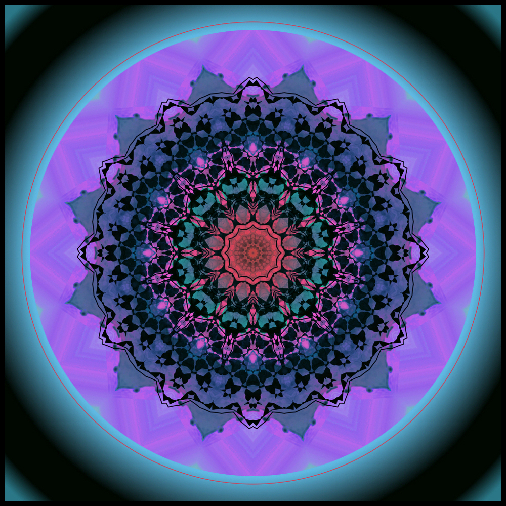 Panel Mandala Rosace serapportantà Image De Rosace