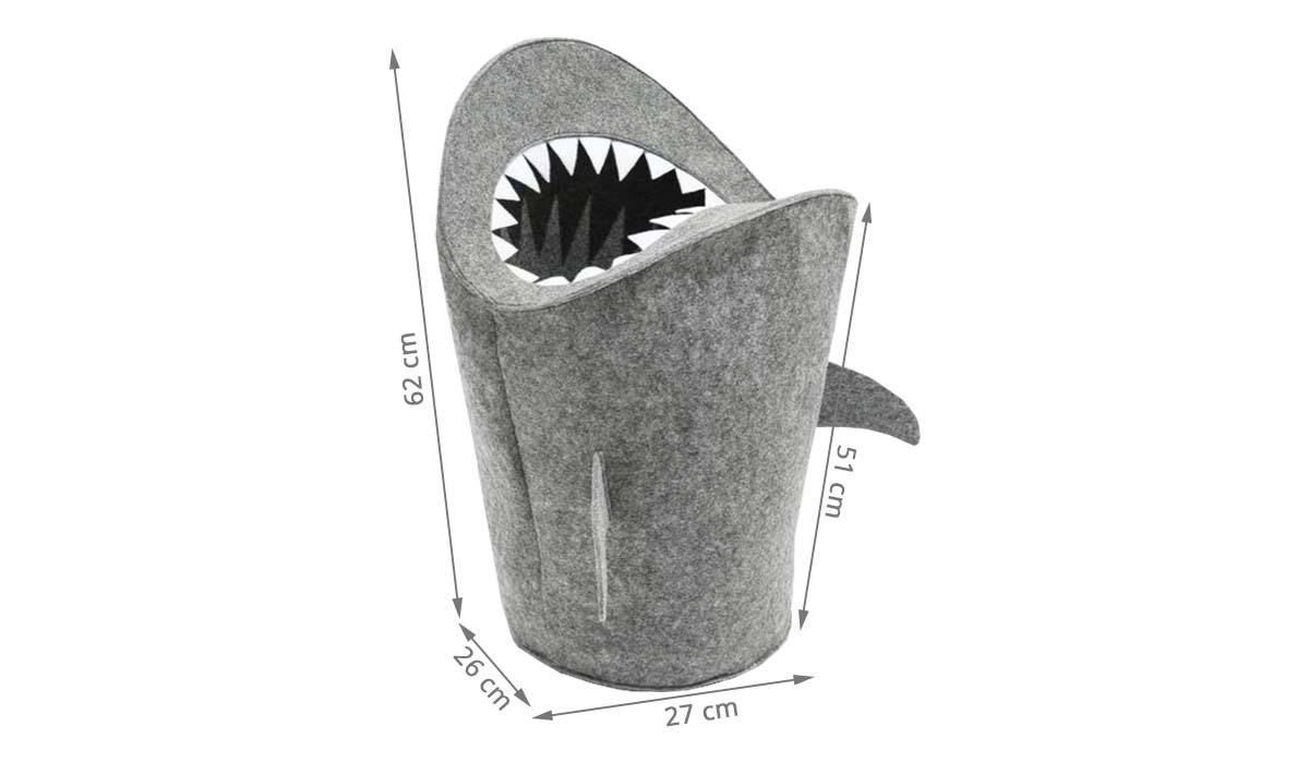 Panier À Jouets Requin En Feutre intérieur Voiture Requin Jouet