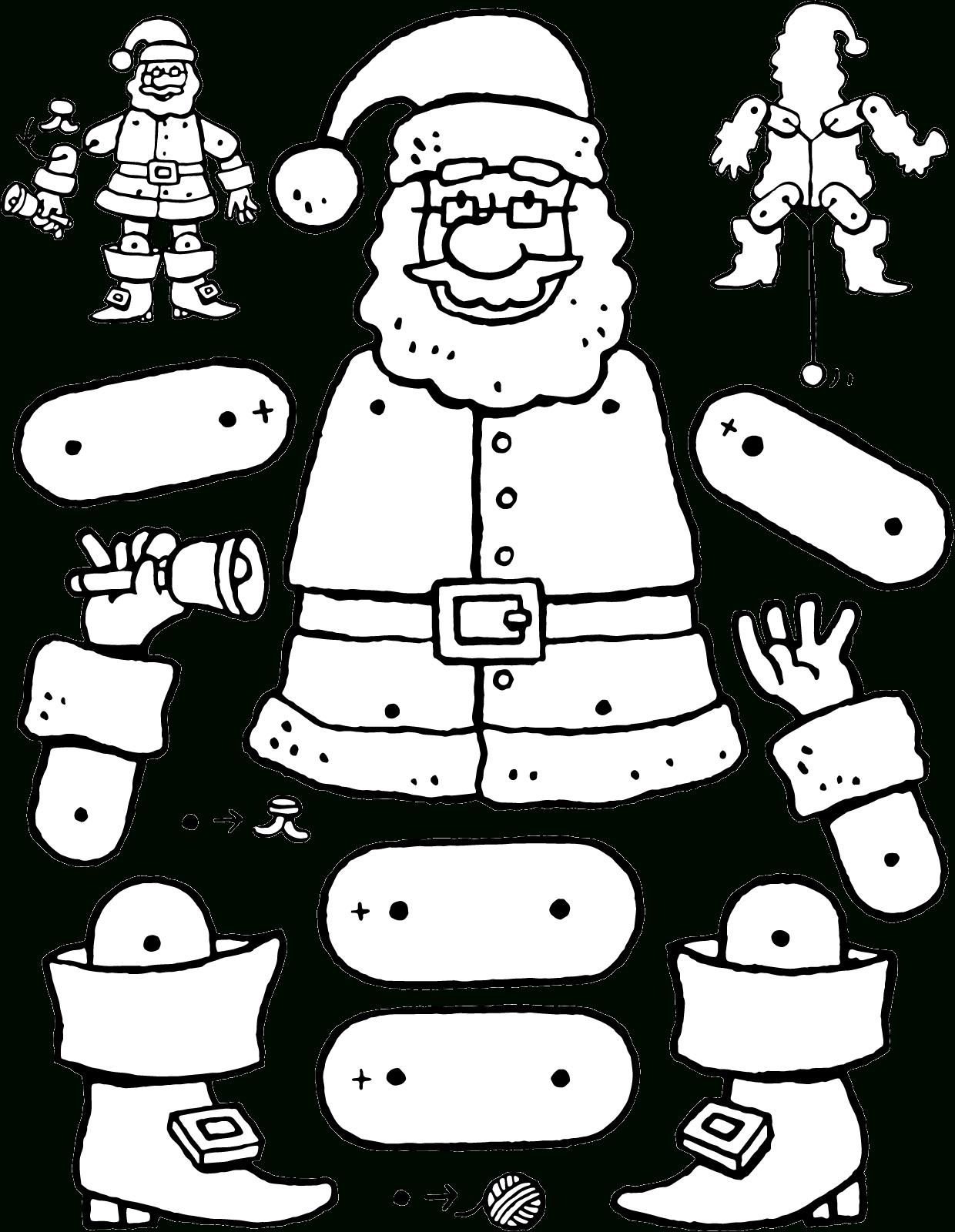 Pantin Père Noël - Kiddicoloriage dedans Coloriage Pantin