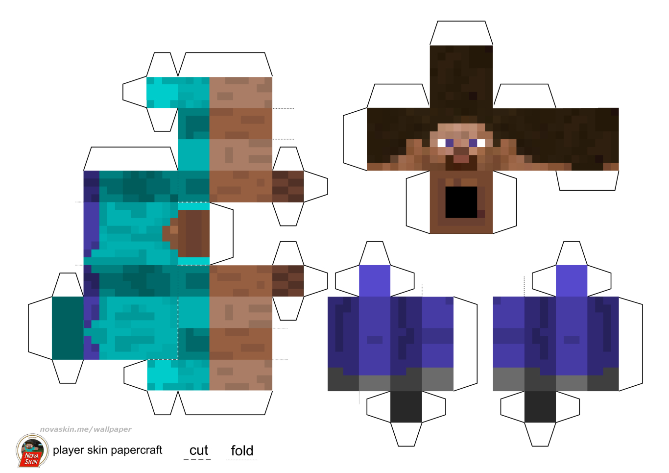 Paper Crafts Ideas For Kids: Minecraft Paper Craft pour Paper Toy A Imprimer