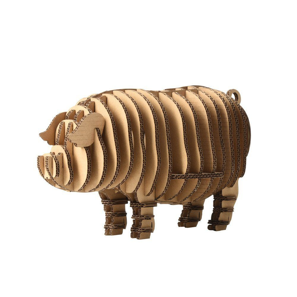 Paper Maker Diy 3D Jigsaw Puzzle Pig Model Toys Gifts For dedans Puzzle Gratuit Facile