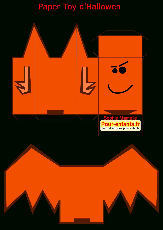 Paper Toy Halloween Chauve Souris A Imprimer Gratuit Jouet destiné Paper Toy A Imprimer