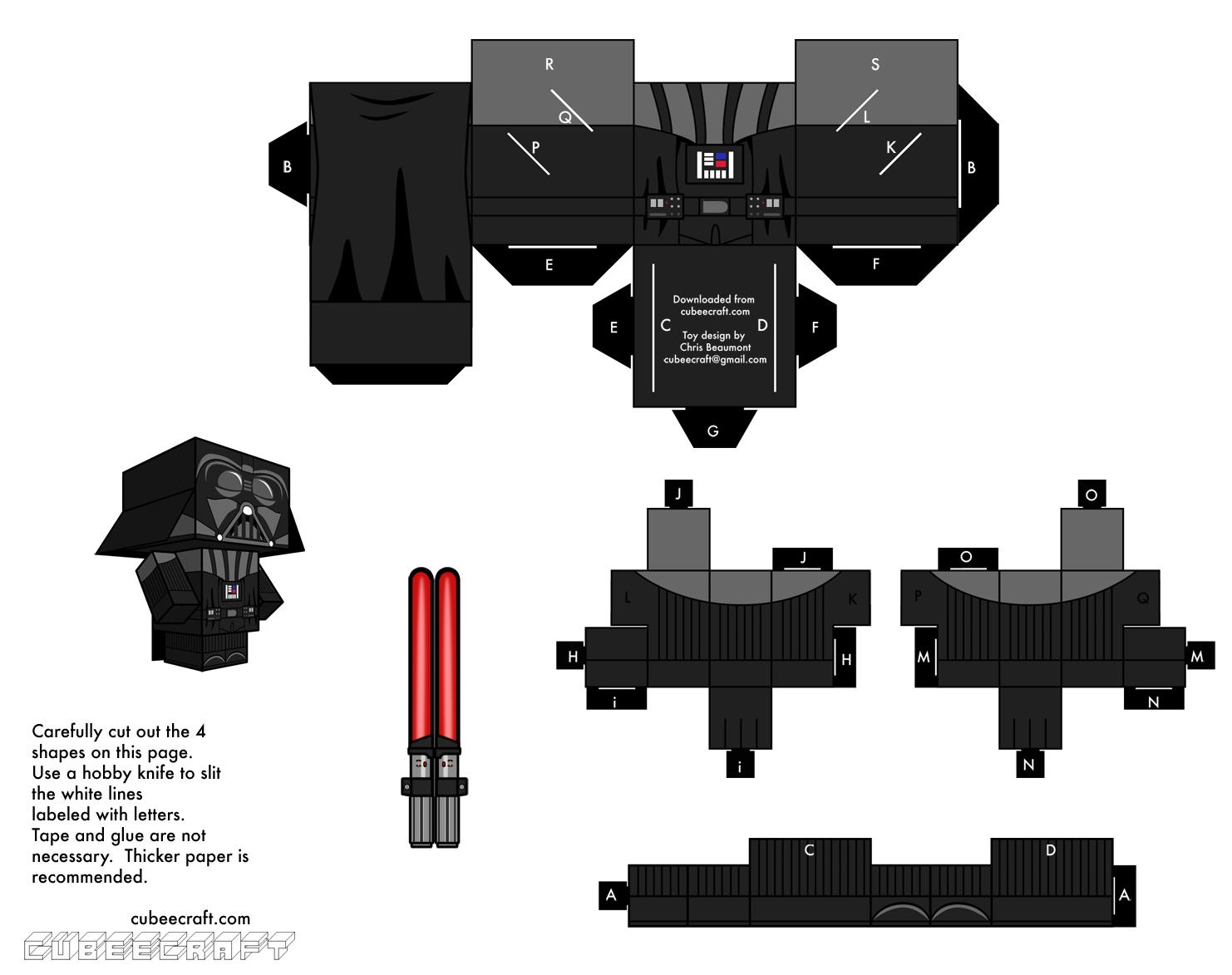 Paper Toys À Imprimer & Colorier : Animaux, Star Wars serapportantà Paper Toy A Imprimer