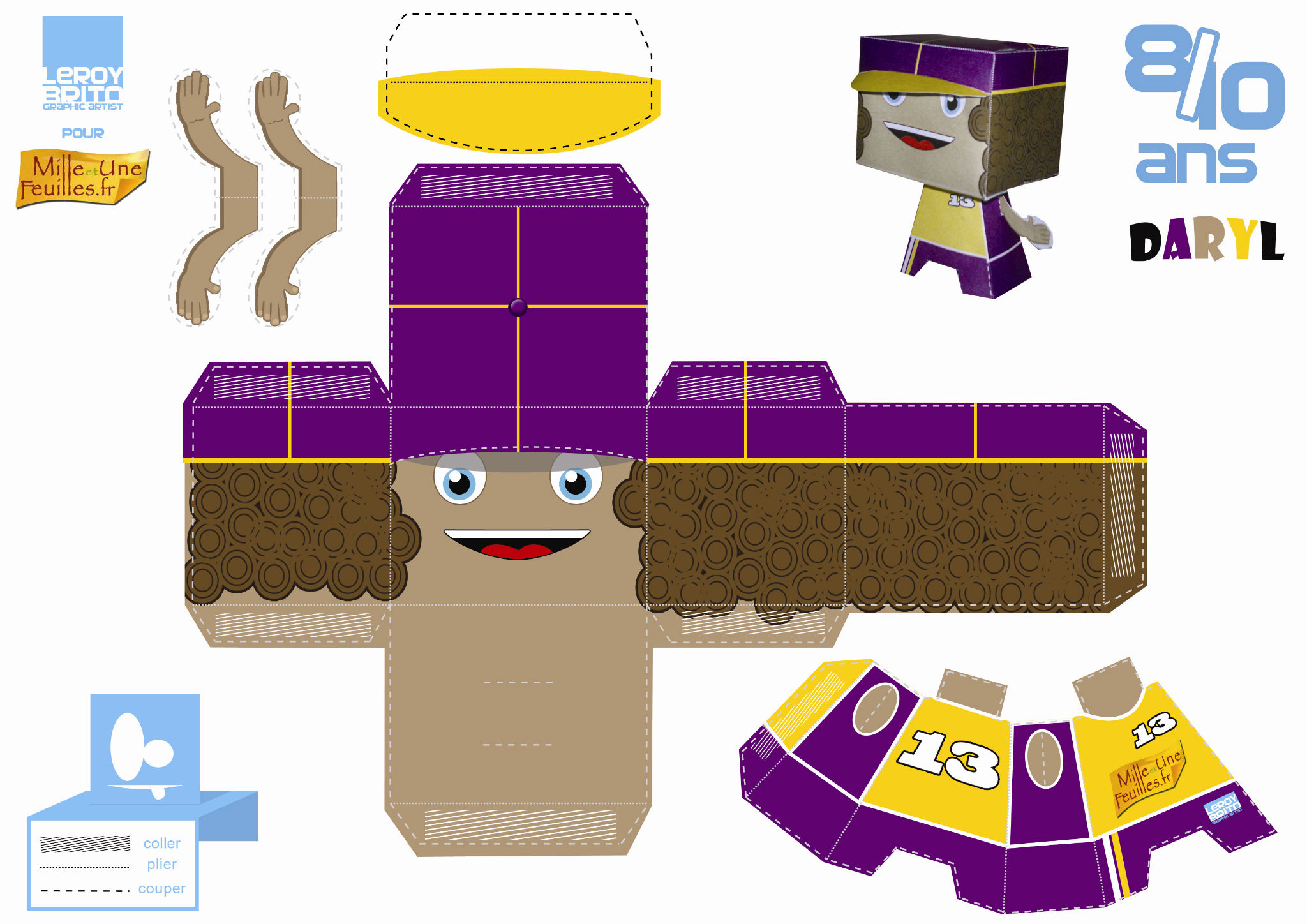 Paper Toys Daryl - Mille Et Une Feuilles pour Paper Toy Gratuit