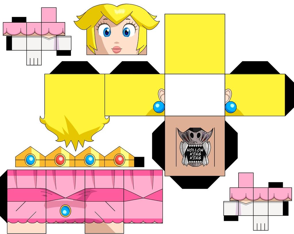 Paper Toys Peach - La Fée Biscotte avec Paper Toy A Imprimer
