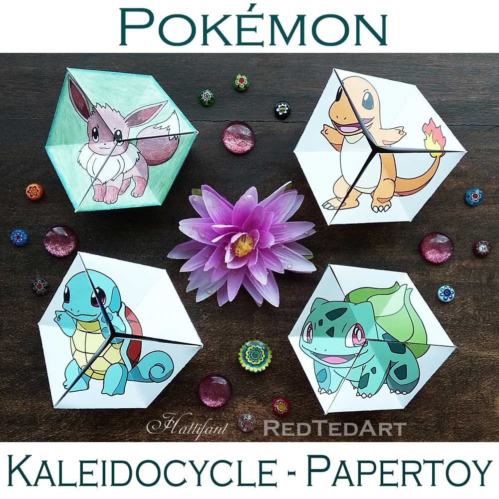 Paper Toys: Pokemon Evolution Flextangles - Hattifant avec Paper Toy A Imprimer