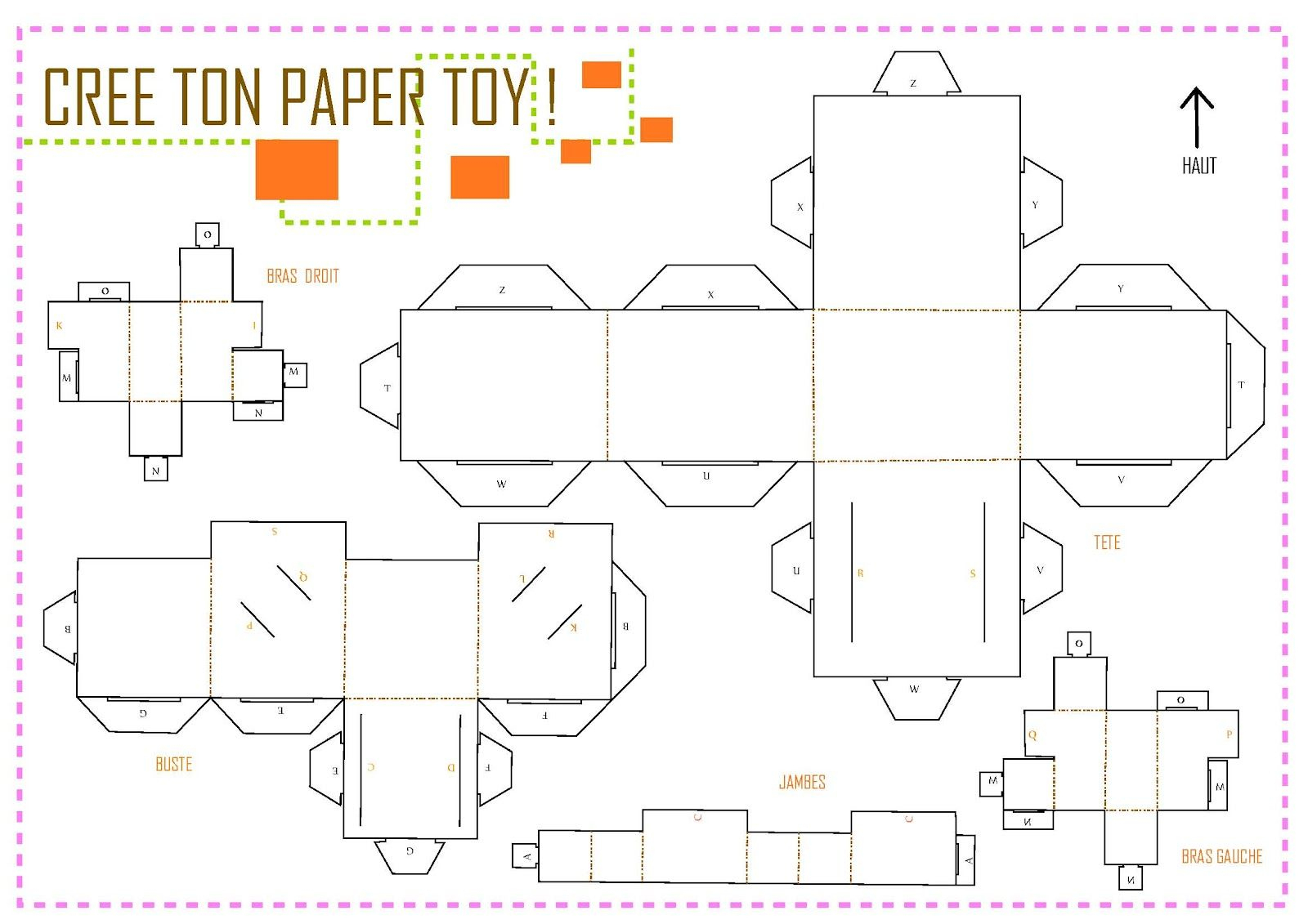 Paper Toys Vierge | Paper Toy, Vierge, Typographie encequiconcerne Paper Toy A Imprimer
