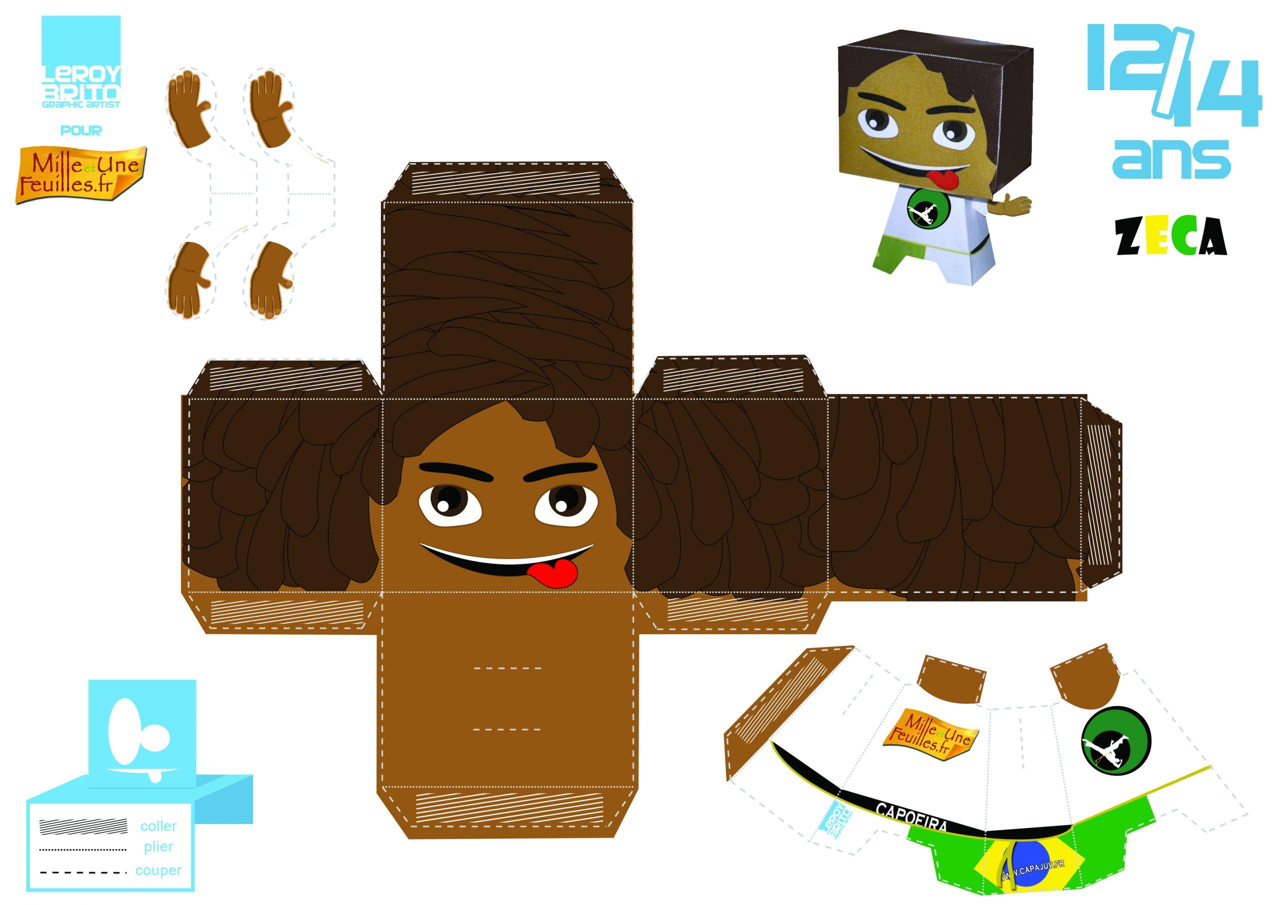 Paper Toys Zeca - Mille Et Une Feuilles serapportantà Paper Toy A Imprimer