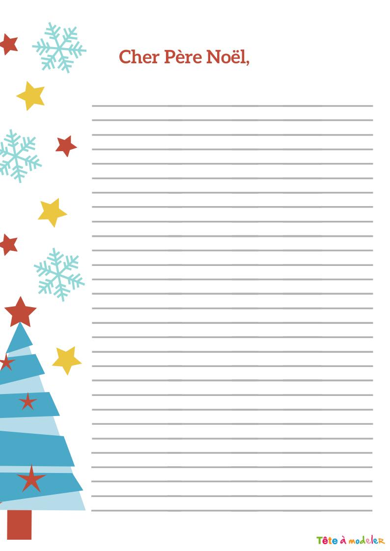 Papier À Lettre À Ligne À L'ancienne- Tête À Modeler avec Papier Lettre De Noel