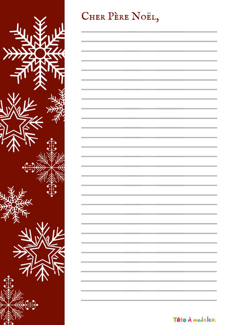 Papier À Lettre Au Père Noël Jauni - Tête À Modeler concernant Papier Lettre De Noel
