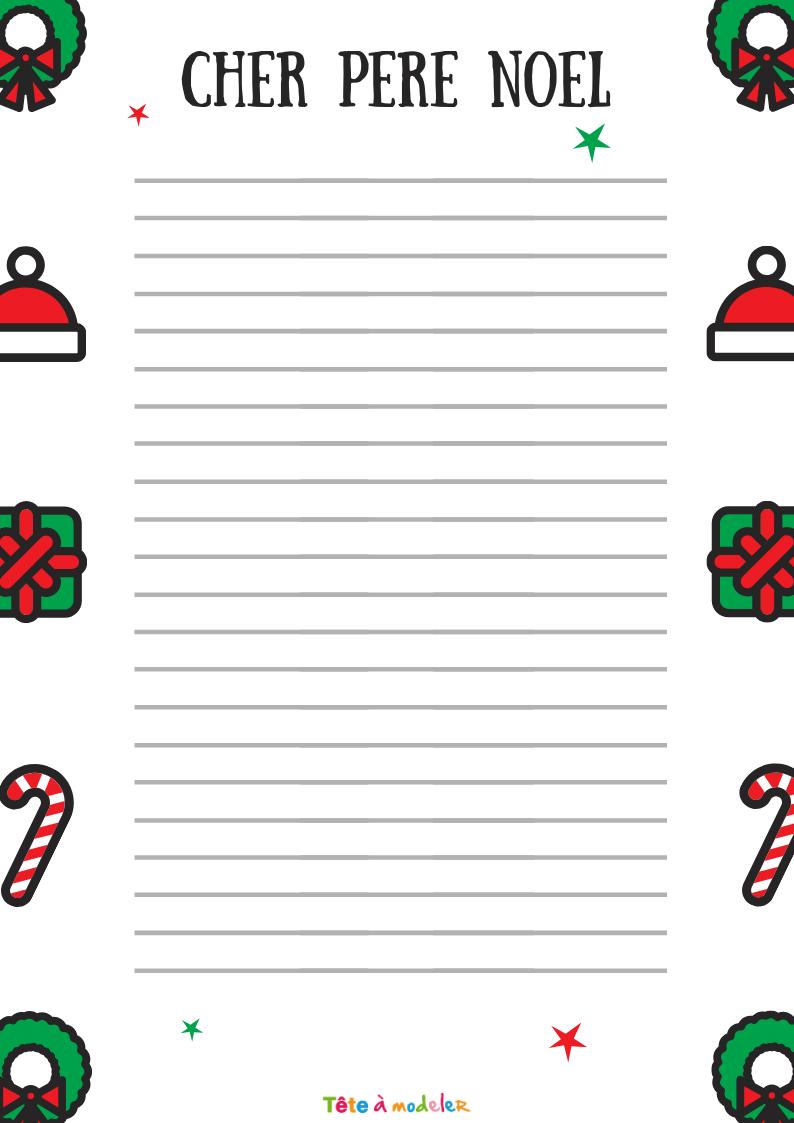 Papier À Lettre De Noël Au Traîneau - Tête À Modeler dedans Papier Lettre De Noel